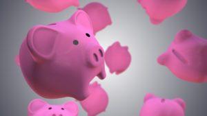 ご縁を集めるピンクの豚