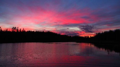 フィンランドの朝日