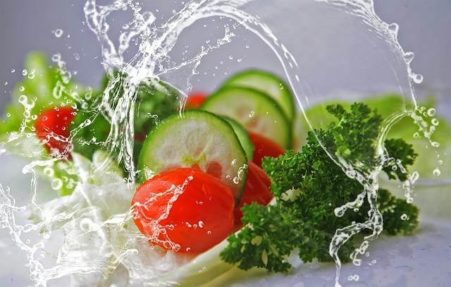 サラダ水洗い