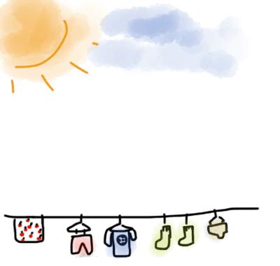 天気の良い日の洗濯